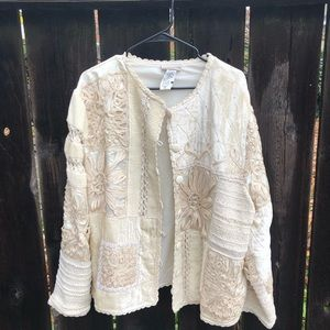Velvet Embroidered Boho Coat